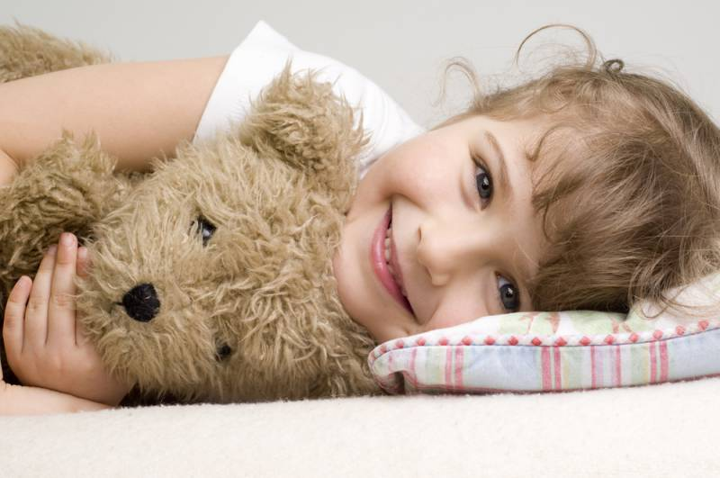 Provide your child with a stuffed toy.